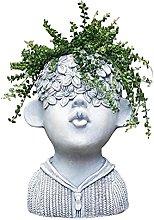 Sculture Cement Flower Pot Carattere Scultura