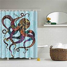 Sea Octopus Tende da doccia Tessuto Impermeabile