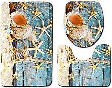 Seashells - Tappetino da bagno con stella marina,