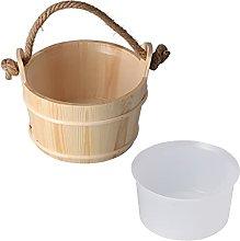 Secchio in legno da bagno, secchio in legno con