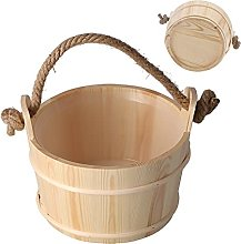 Secchio in legno da bagno, secchio per sauna da 6