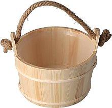 Secchio per sauna da 6 litri, secchio in legno da