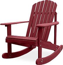Sedia a dondolo da giardino Adirondack Ciliegia