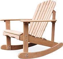 Sedia a dondolo da giardino Adirondack Legno
