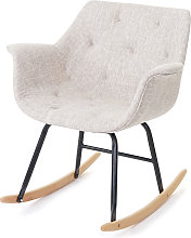 Sedia a dondolo moderna Malmö T820 legno faggio