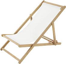 Sedia a sdraio pieghevole ecr羅 in legno massello