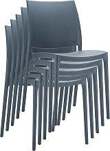 Sedia C44 design moderno impilabile 50x44x81cm