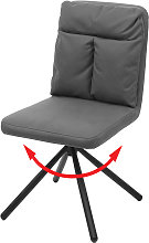 Sedia con seduta girevole HWC-G58 tessuto senza