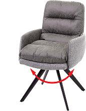 Sedia con seduta girevole HWC-G66 tessuto con