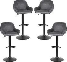 Sedia da bar   altezza regolabile   grigio scuro  