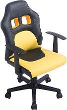 Sedia da scrivania per bambini nero/giallo