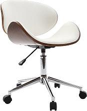 Sedia da ufficio design colore bianco e legno