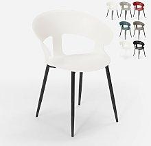 Sedia design moderno in metallo polipropilene per