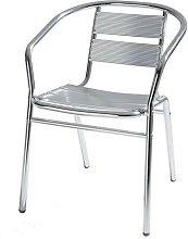 Sedia in alluminio da giardino e bar