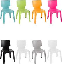 Sedia in plastica robusta impilabile ROSA -