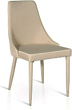 Sedia Moderna Di Design In Tessuto Tortora