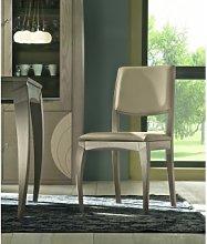 Sedia moderna in legno con schienale imbottito