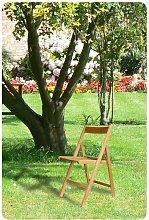 Sedia pieghevole in legno colore naturale
