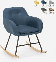 Sedia poltrona a dondolo design moderno patchwork