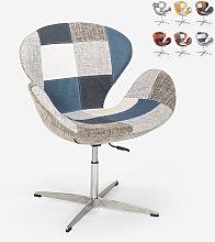 Sedia poltrona girevole design stile patchwork