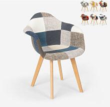 Sedia poltrona patchwork design nordico salotto