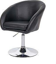 Sedia poltroncina lounge girevole HWC-F19 metallo