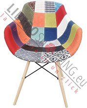 Sedia poltroncina PATCHWORK old style