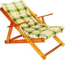 Sedia Sdraio Relax con cuscino imbottito, Poltrona