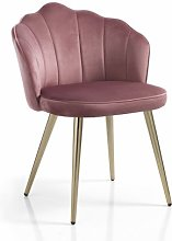 sedia SHELL in tessuto rosa