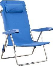 Sedia spiaggina MARINA in alluminio reclinabile