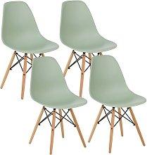 Sedie sala da pranzo Ester: set da 4 sedie verdi