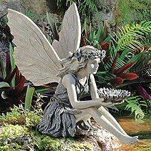 Seduto Fatina Statue Da Giardino,Angel Ragazza