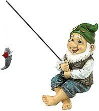 Seduto Pesca Figura Giardino Ornamenti Da