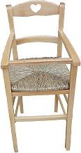 Seggiolone BIMBO con seduta in paglia e protezione
