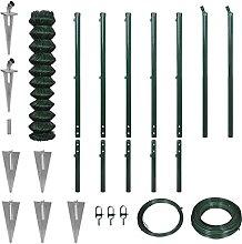 Senluowx - Set di recinzione in filo con ancoraggi