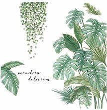 Senmubery Adesivo Murale Pianta Verde Adesivo