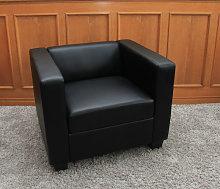 Serie Lille M65 poltrona 75x86x70cm pelle nero