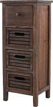 Serie vintage scaffale cassettiera legno paulonia