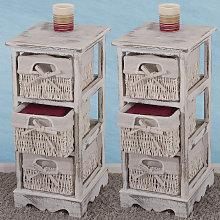 Serie vintage set 2x scaffali cassettiere 3 ceste