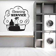 Servizio di pulizia Adesivo da parete Numero