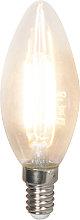 Set 10 lampadine LED E14 350lm 2700k candele dimm
