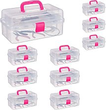 Set 10 Pezzi Scatole Trasparenti Plastica, 9