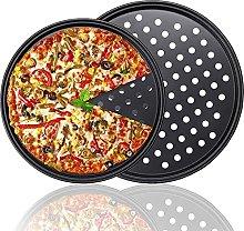 Set 2 Teglie per Pizza Rotonde Teglia per Pizza
