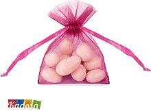 Set 20pz Bustine Organza FUCSIA Porta Confetti -