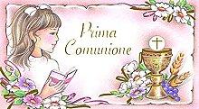 set 25 Bigliettini x Bomboniera Prima Comunione.