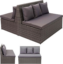Set 2x divani sofà 2 posti da esterno HWC-G16
