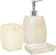 Set 3 pezzi accessori da bagno Dispenser Bicchiere