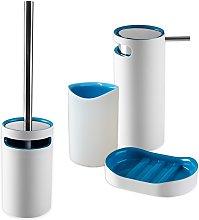 Set 4 pezzi accessori da bagno serie Idol