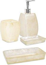 Set 4 pezzi accessori da bagno serie Perla Cipì