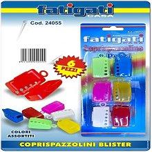 Set 6 Cappucci Colorati Per Spazzolino Da Denti